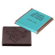 Chocolat Jeff de Bruges - Carré noir éclat de fèves