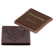 Chocolat Jeff de Bruges - Carré noir Côte d'Ivoire 72%