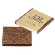 Chocolat Jeff de Bruges - Carré lait miel amandes