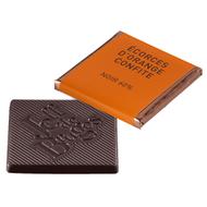 Chocolat Jeff de Bruges - Carré noir orange
