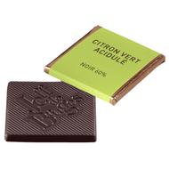 Chocolat Jeff de Bruges - Carré noir citron vert